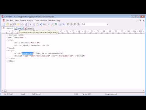 jQuery Tutorial - 5 - Inline/External Scripting