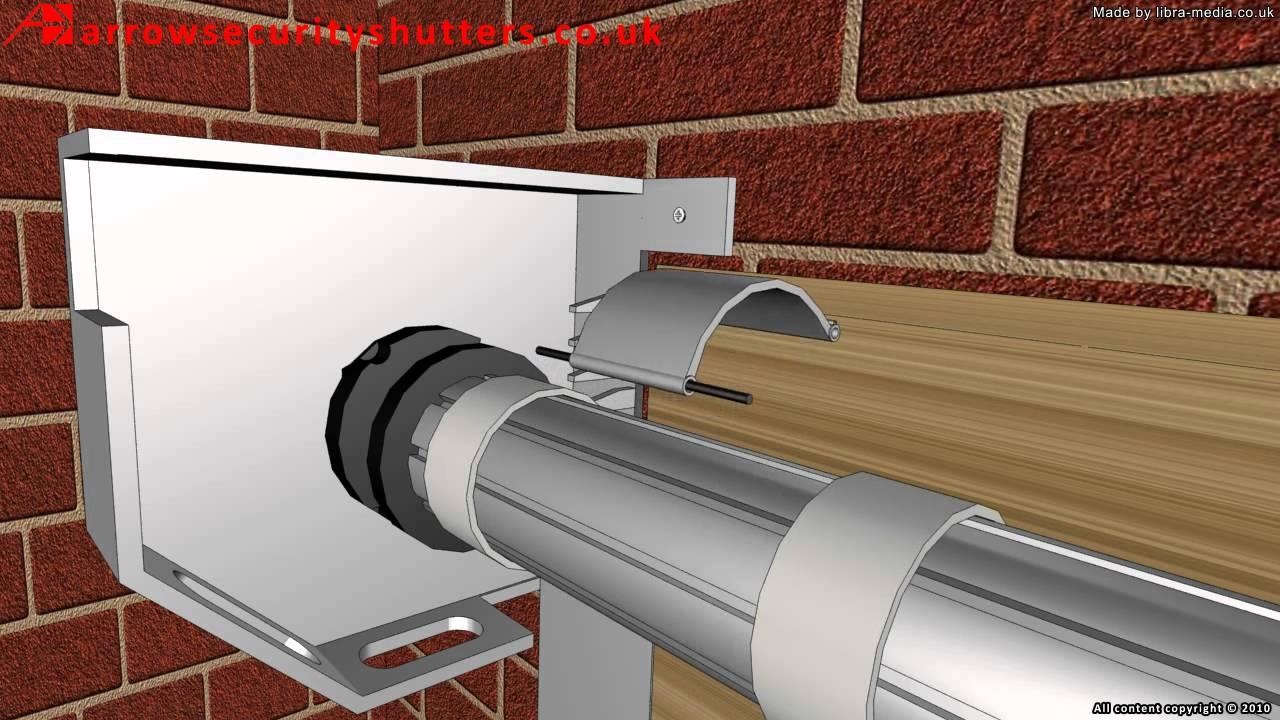 An electric operated garage roller shutter door garage for Roller shutter motor installation