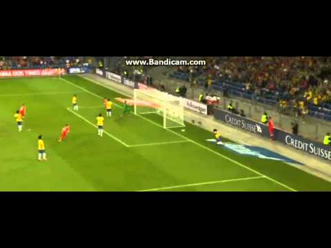 Daniel Alves Own Goal (Switzerland 1-0 Brazil) 14.08.2013 [Friendly International]