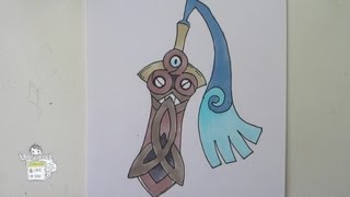 [Tutorial] How To Draw Honedge From POkemon X Y ヒトツキ