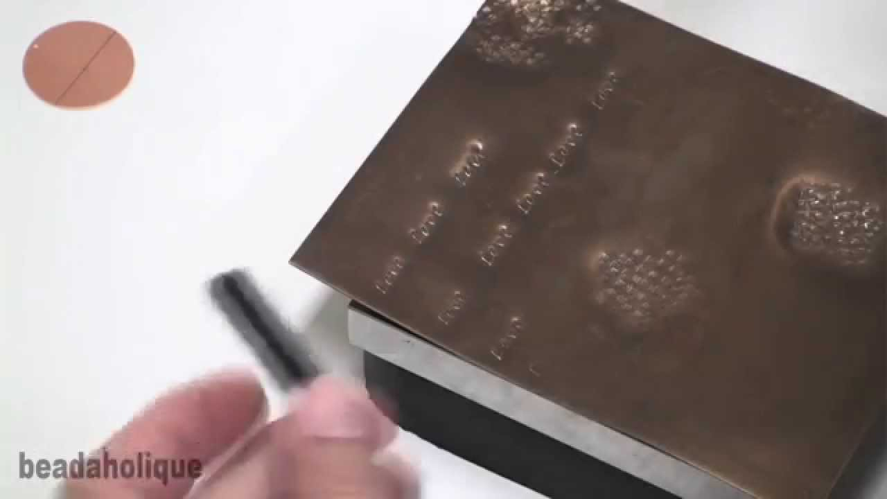 How to use alphabet punch sets for stamping youtube for Punch letters into metal