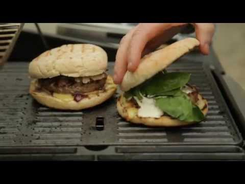 Paul Flynn- Summer BBQ Recipes- Superburger with Red Onion Marmalade, Cheddar & Sour Cream