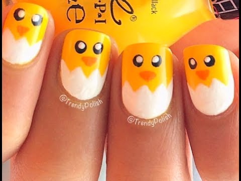 Cute & Easy Chick Nail Art