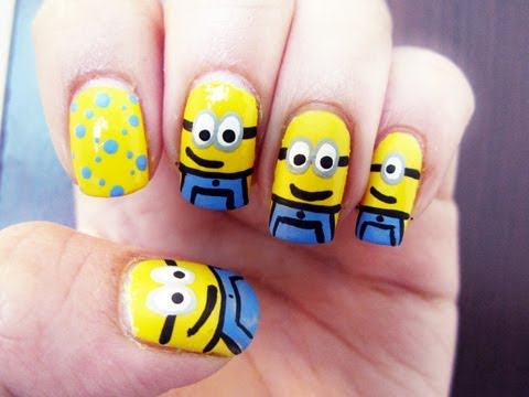 MINIONS NAIL ART - Despicable Me 2