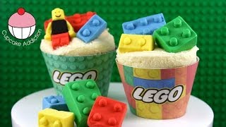 LEGO Cupcakes! How To Make Edible Lego For Your Cakes And