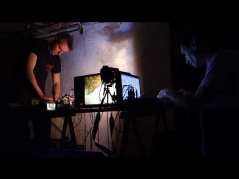 Kris Limbach & Scott Sinclair - audio-visual performance for 2 TVs
