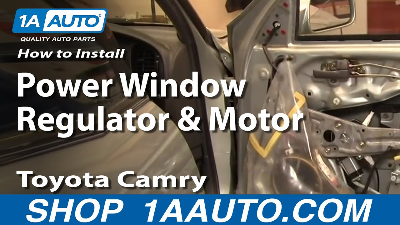 How To Install Replace Power Window Regulator And Motor