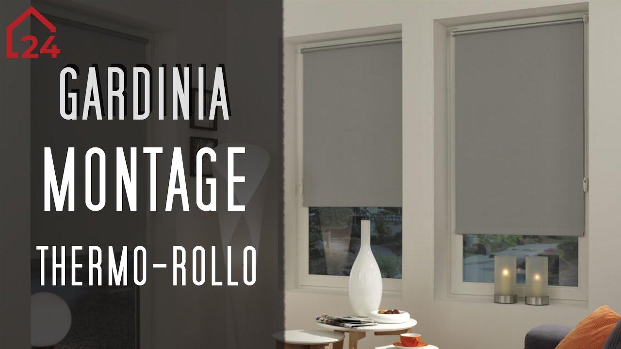 gardinia easyfix thermo rollo montagevideo youtube. Black Bedroom Furniture Sets. Home Design Ideas