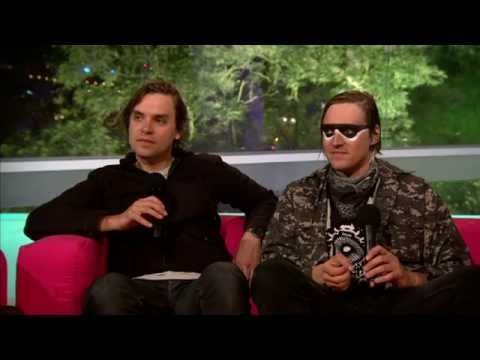 Arcade Fire chat to Lauren Laverne at Glastonbury 2014