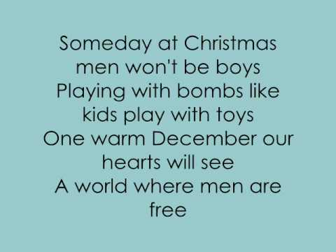 Justin Bieber - Someday at christmas w/ lyrics - YouTube