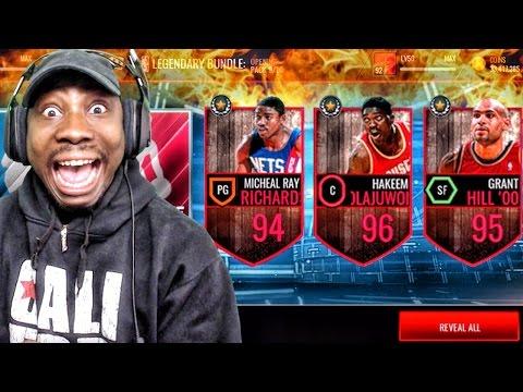 LEGEND PACK OPENING & NEW 96 HAKEEM OLAJUWON! NBA Live Mobile 16 Gameplay Ep. 84