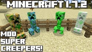 Minecraft 1.7.2 MOD SUPER CREEPERS!