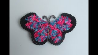 How To Crochet A Butterfly 3D