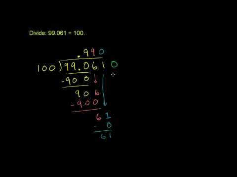 Dividing Decimals 2