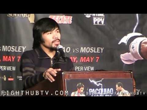 Manny Pacquiao vs. Shane Mosley Press Conference Highlights