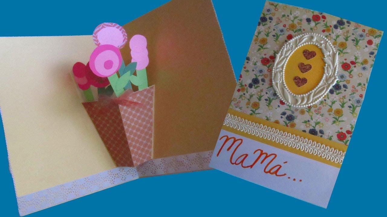 Tarjeta popup ramo de flores floritere 2013 youtube - Manualidades para hacer tarjetas ...