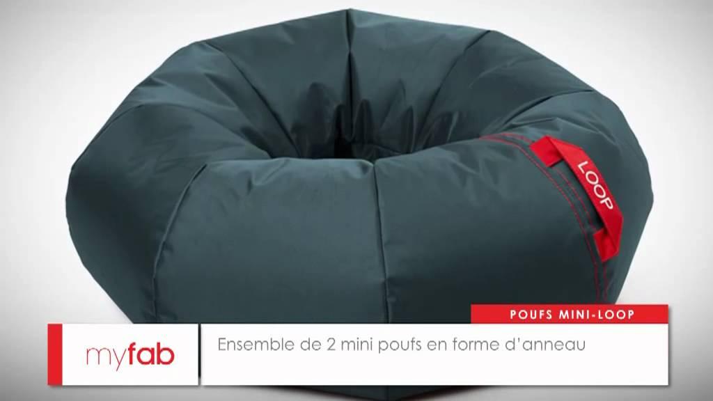 poufs ronds mini loop par myfab youtube. Black Bedroom Furniture Sets. Home Design Ideas