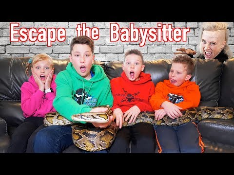 Escape the Babysitter! Ninja Kidz vs Babysitter Escape Room!