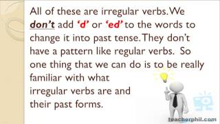 Regular and Irregular Verbs