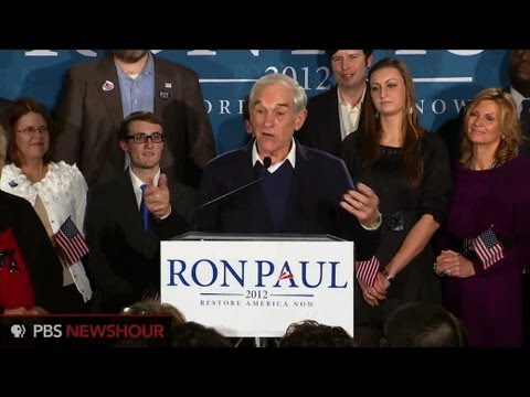 Watch Ron Paul's Speech After New Hampshire Primary