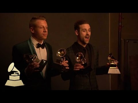 Macklemore & Ryan Lewis in Danny Clinch Photography Room at 56th Annual GRAMMY Awards