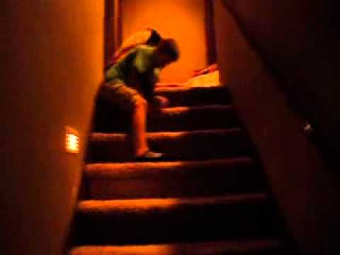 fat people falling down stairs