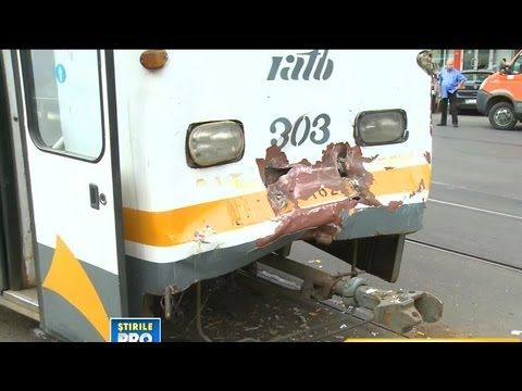 Accident de tramvai cu 9 raniti in Bucuresti - Tram Accident