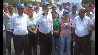 CHP Manisa İl Örgütü Standart Profil işçilerinin yanında