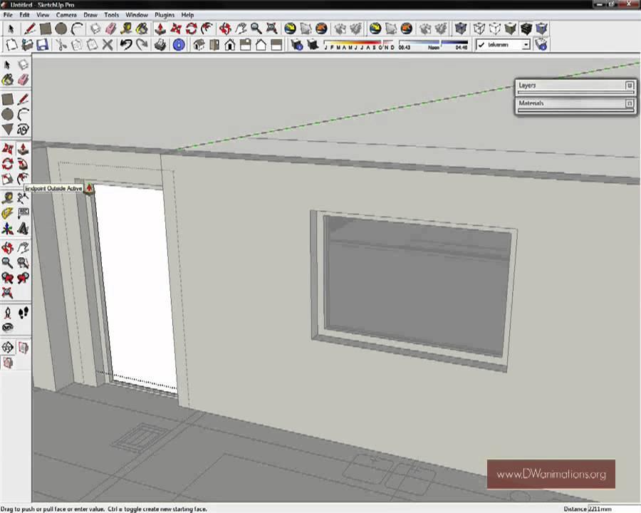 Hoe maak ik een deur in SketchUp? | SketchUp training