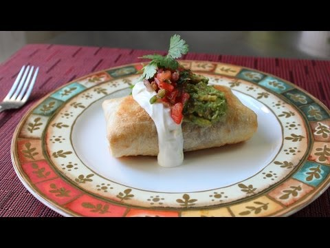 Chicken Mushroom Chimichanga - How to Make a Chimichanga (Oven Fried