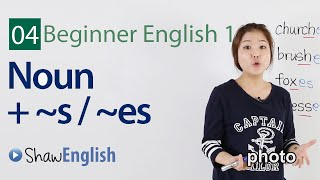 Using singular and plural nouns, Beginner 1, Lesson 4