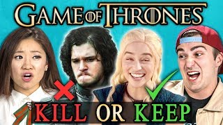KILL or KEEP: Game of Thrones Finale Challenge (React)