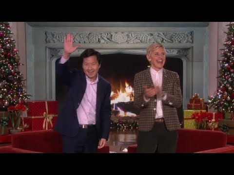 Ken Jeong's Holiday Card on Ellen Show