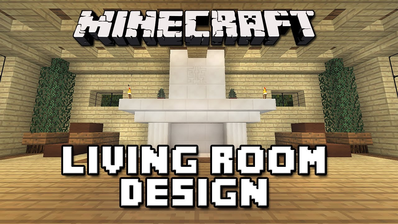 Minecraft tutorial how to build a house part 11 living Living room furniture minecraft