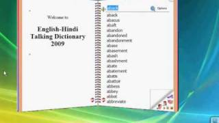 English-Hindi Talking Dictionary view on youtube.com tube online.