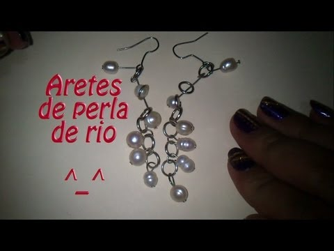 Hazlo tu mism@: Aretes de perla rio Modernos!!!