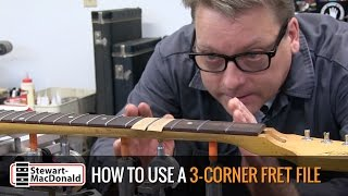 Watch the Trade Secrets Video, How to shape frets with a 3-corner file