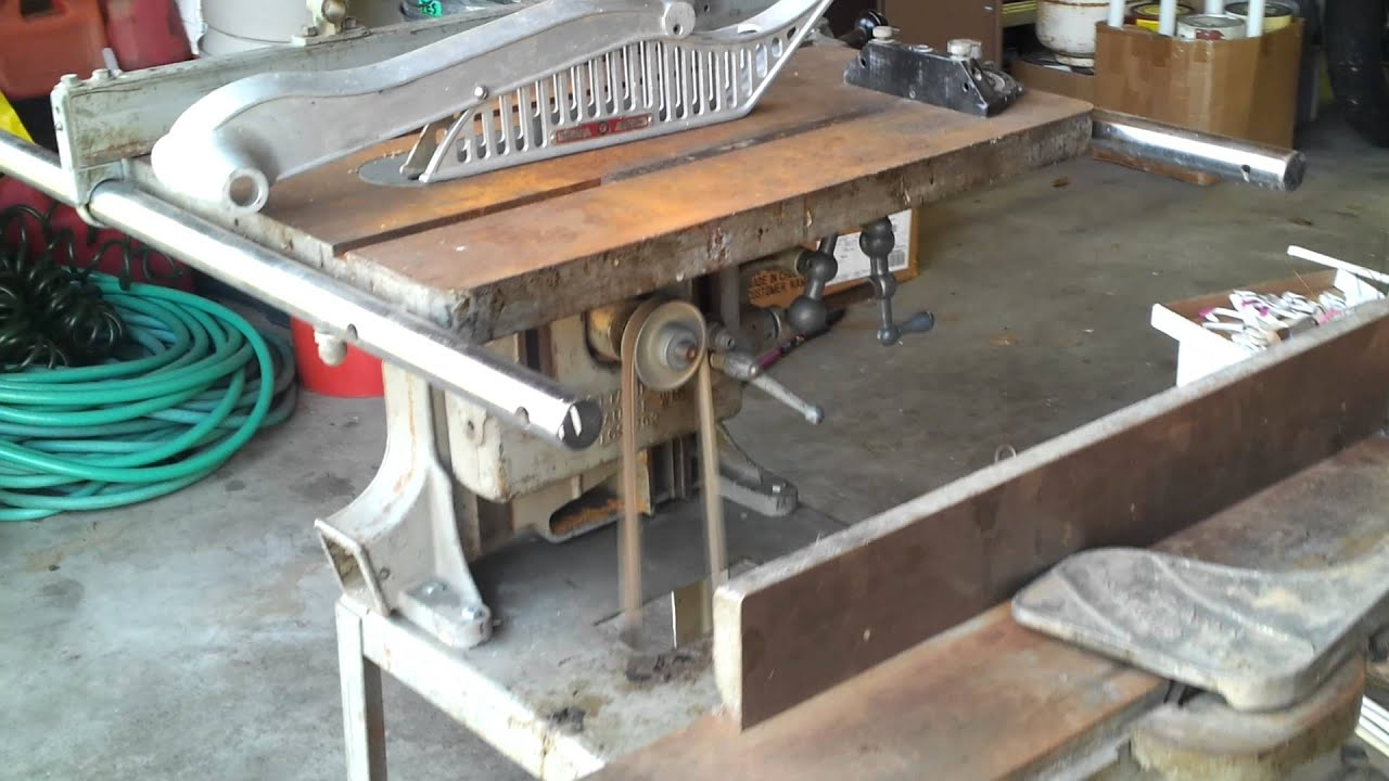 Vintage 1939 Delta Table Saw Jointer Youtube