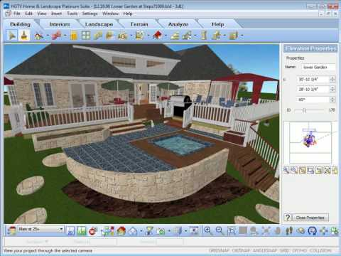 Hgtv home design software using the view options youtube for Hgtv home design software tutorial