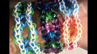 New Rainbow Loom Open Oval Bracelet Made On 2 Looms