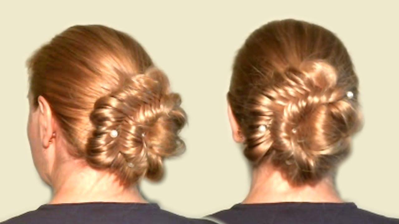 Пучок из длинных волос своими руками