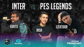 INTER vs PES LEGENDS on PES 2020 with INTER | QLASH (feat. INSA, KIRITO_YUUKI_00 and EZEKTOOR) 🎮⚫🔵🤣???