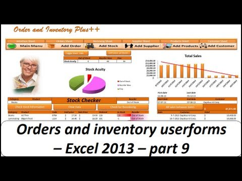 Excel VBA - Orders and Inventory Management - Excel 2013 Part 9 Userforms