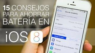 Consejos para ahorrar bateria en iOS 8
