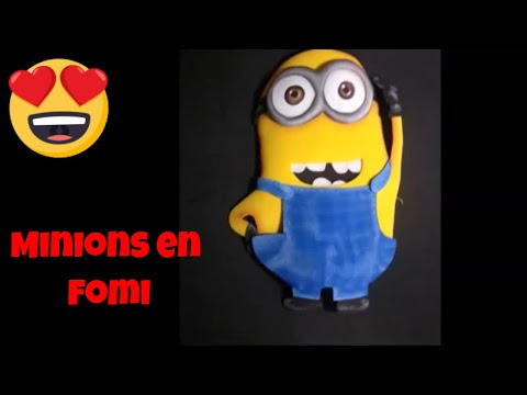 Minions - Como Hacerlos en fomi (how to make them with fomi) - YouTube
