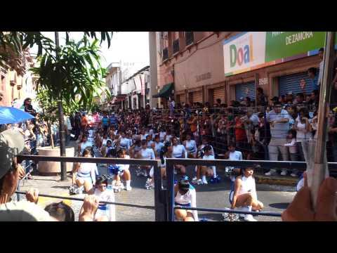 desfile de la secundaria 1 en zamora michoacan del 20/11/11
