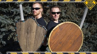Making EPIC Battle Shields from Hardwood Flooring