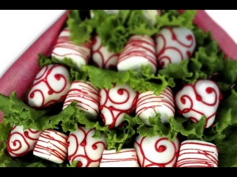 Cómo hacer un arreglo frutal de fresa y chocolate / Fresas con chocolate deliciosas