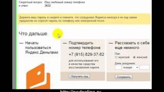 Создание электронного кошелька Яндекс.Деньги за 5 минут