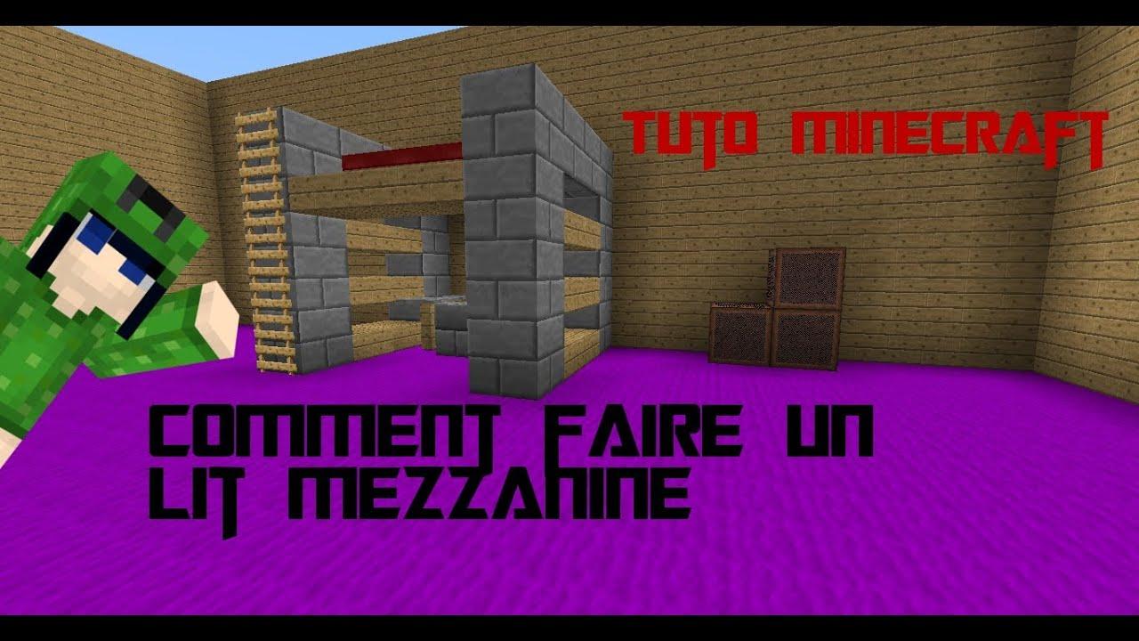 Tuto Comment faire un lit mezzanine sur minecraft CommuMC FR - YouTube